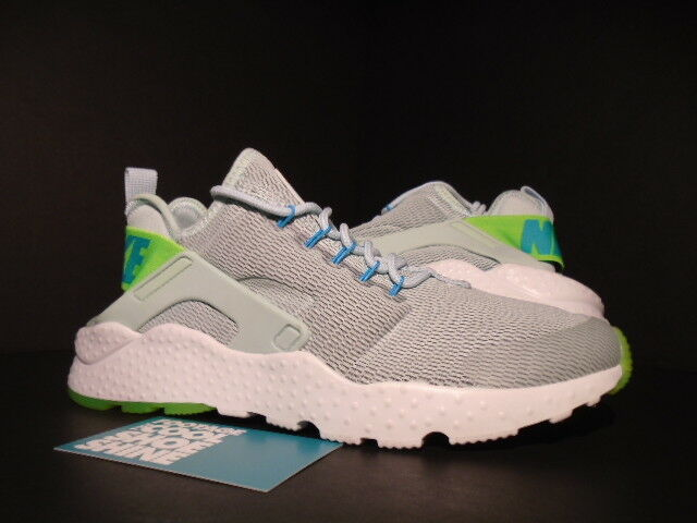 WOMEN 2016 NIKE AIR HUARACHE RUN ULTRA FIBERGLASS ELECTRIC GREEN GAMMA blueE 7.5