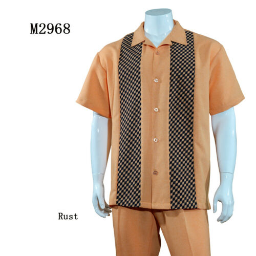 Men/'s Fashion walking suit Design by Fortino Landi M2968 Check 4 Colors