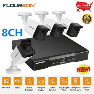 8CH-1080P-HD-XPOE-CCTV-IP-Camera-Security-System-NVR-Video-Outdoor-Surveillance