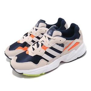 san francisco 52bc6 cc46f Image is loading adidas-Originals-Yung-96-Ivory-Navy-Orange-Mens-