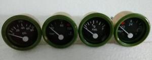 24-VOLT-Gauges-Set-4pc-Oil-Pressure-Temperature-Oil-Temp-Volt-Gauge-52-mm