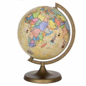 Globus Weltkugel Karte.Details Zu Voyager Globus Kinder Globus Weltkugel Antik Karte Erdkunde Neu
