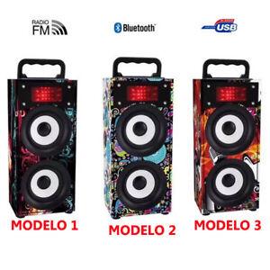 ALTAVOZ-MINI-INALAMBRICO-CON-RADIO-FM-TARJETA-TF-USB-LUCES-LED-RESISTENTE