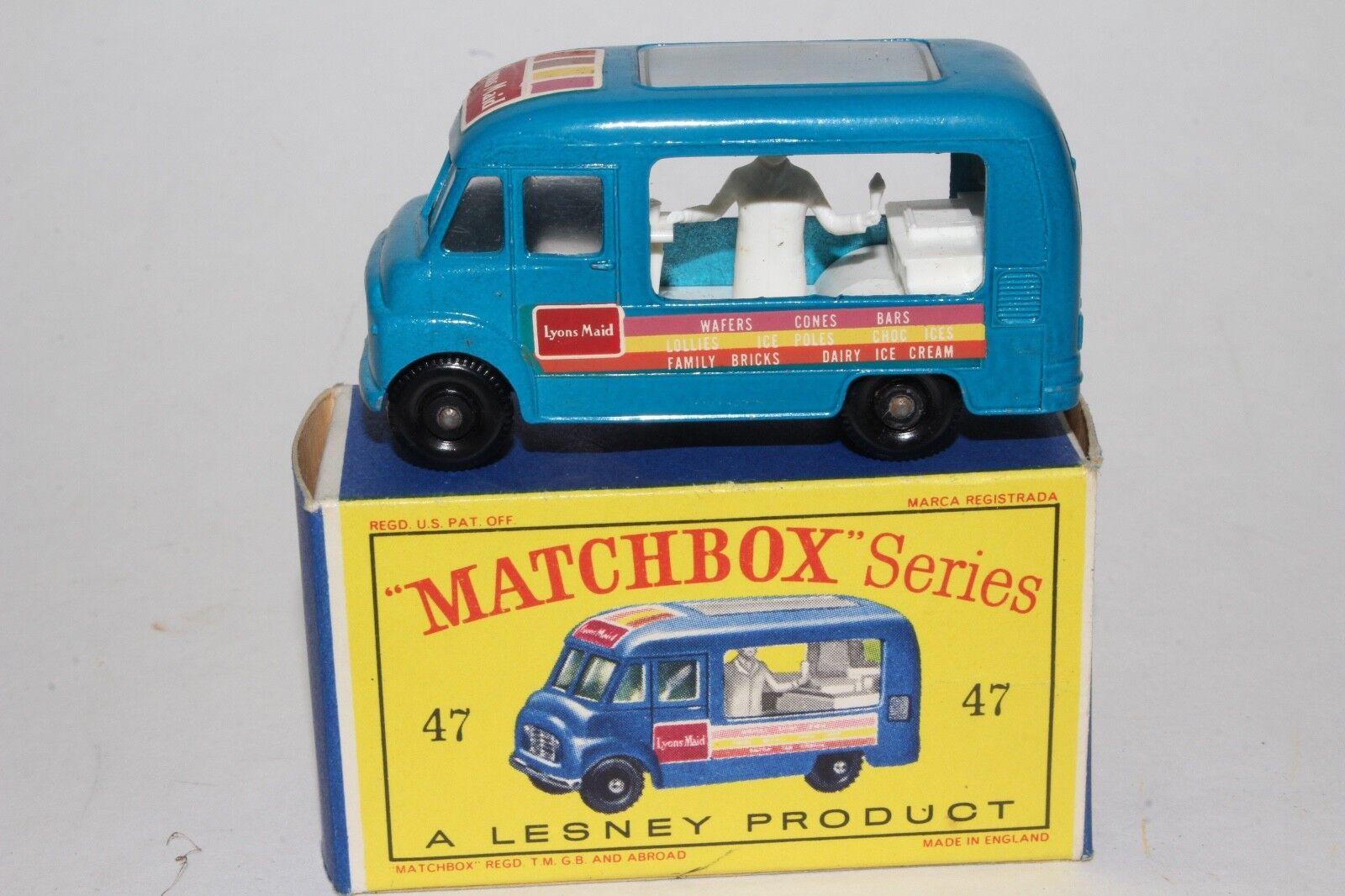 Matchbox Lesney B Commer Helado entrega Camión, Metálico blu En Caja Tipo D