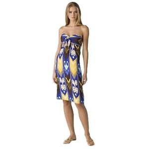 Rare-Tory-Burch-Leeona-Blue-Island-Silk-Dress-US-0