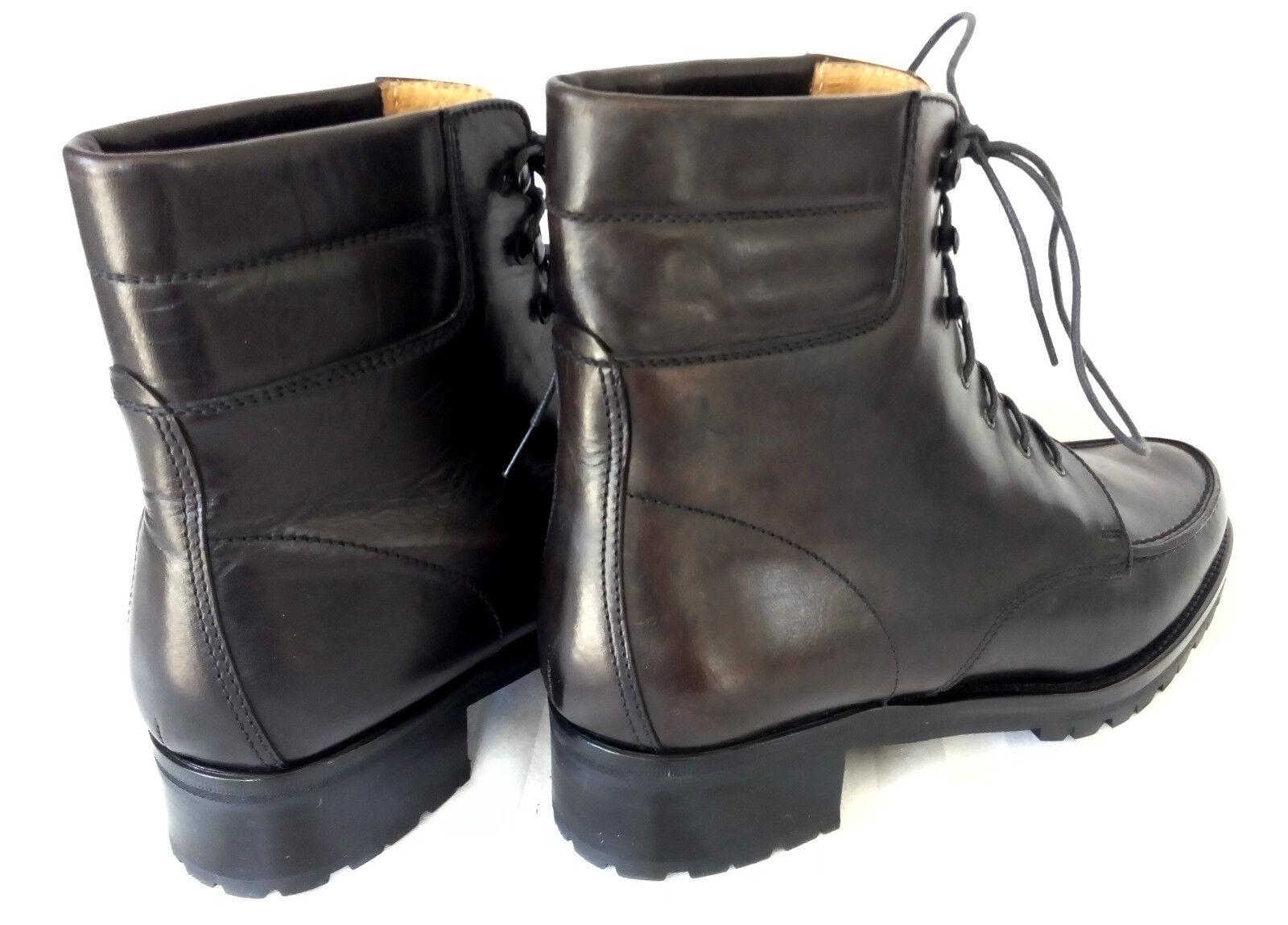 Grand Step señora botas botines teñido negro teñido botines trapecios talla 38 como nuevo 54a0cb