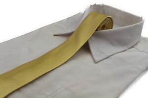 CHEAP-5CM-MENS-YELLOW-GOLD-TIE-Necktie-Neck-Skinny-Ties-Wedding-Formal-Races