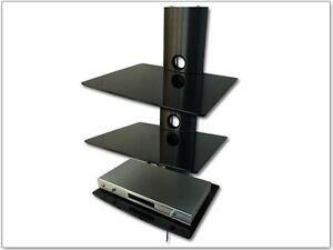 tv media wandablage passt f r samsung sony lg konsole player regal wandhalterung ebay. Black Bedroom Furniture Sets. Home Design Ideas