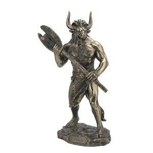 Minotaure labyrinthe bronze statue sculpture - Statue deco interieure ...