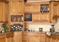 All Wood Rta 10x10 Sierra Toffee Kitchen Cabinets, Plywood Box, Finger Grip