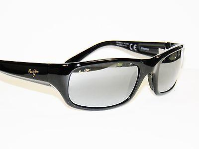 68bc56841cb Maui Jim Stingray 103-02 Gloss Black Grey Sunglasses FREE S H mauijim