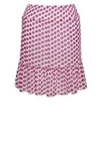 NEW-The-Avenue-Flirty-Pink-amp-White-Polka-Dot-Ruffle-Short-Mini-Skirt-Sizes-26-28