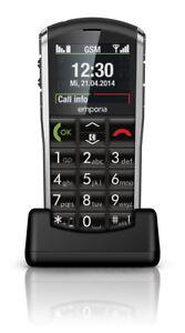 emporiaPURE-Schwarz-Bluetooth-einfache-Bedienung-Hoergeraetekompatibel-NEU-OVP