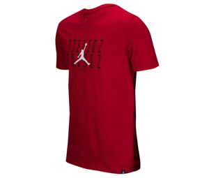 NIKE AIR JORDAN RETRO 11 JSW GRAPHIC T SHIRT SIZE 2XL RED BLACK AA3274 687