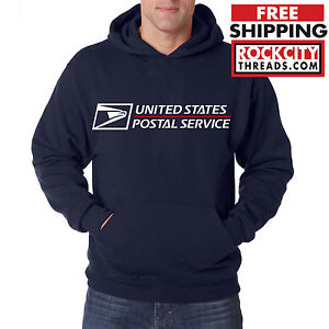 USPS POSTAL HOODIE Hooded Sweatshirt with Logo on Chest United States Service US
