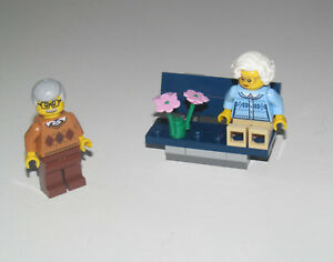 Lego ® City Minifig Figurine Grand Mère Petit Fille Tente Camping NEW