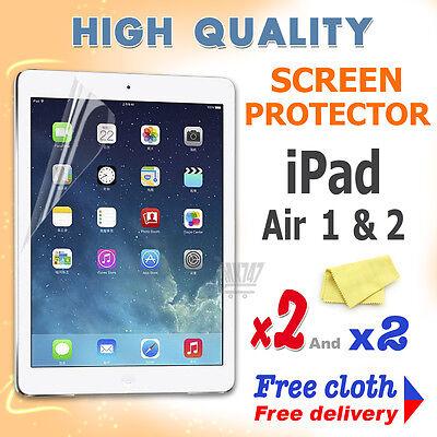 2 Nuovi Alta Qualità Schermo Protettivo Protezione Film Lamina Per Apple Ipad Air 1 2- Per Migliorare La Circolazione Sanguigna