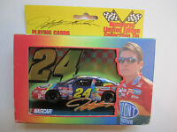 Vintage 1999 Jeff Gordon Nascar 24 Playing Cards Numbered Collectible Tin