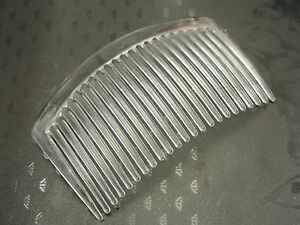 50 Clear Plastic Smooth Hair Clips Side Combs Pin Grip Hair Pin 46mm