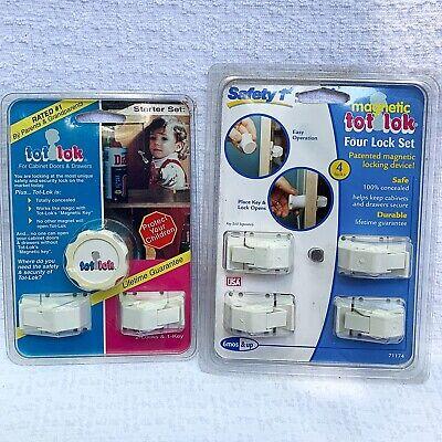 2 Packs Safety 1st Magnetic Tot Lok 4 Lock Set 8 Locks, Total