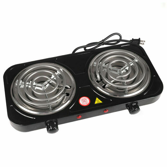 Imusa 1750w Portable Electric Double Burner Black For Sale Online Ebay