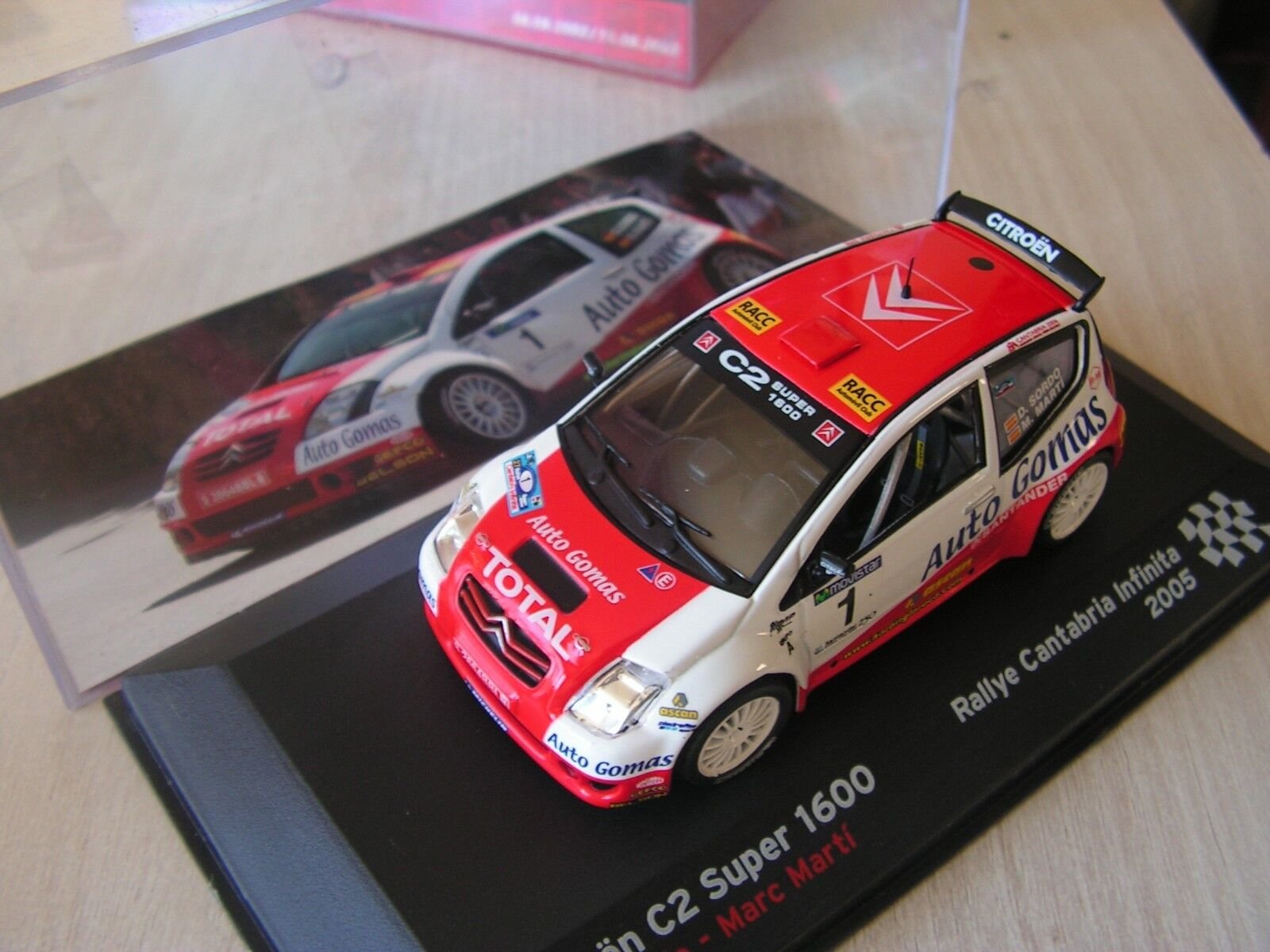 Voiture  1  43 eme  citroen c 2 super 1600        rally  2005     serie 14