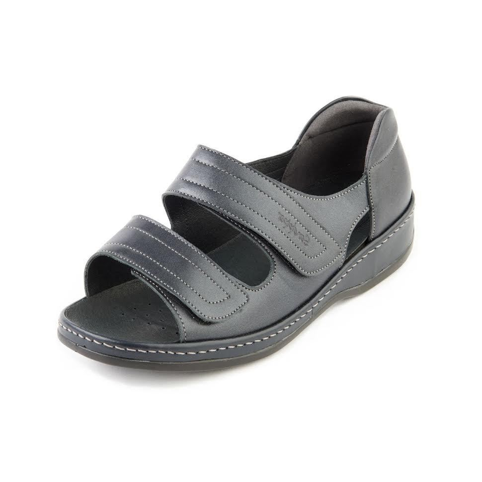 Sandpiper femmes Wide Fit Cheryl Leather Comfort chaussures Footbed Sandals chaussures