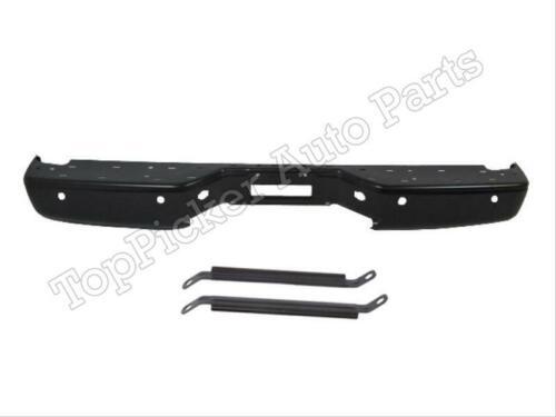 For 2004-2013 Titan Rear Step Bumper Face Bar Black Brace Bracket W//Sensor Hole