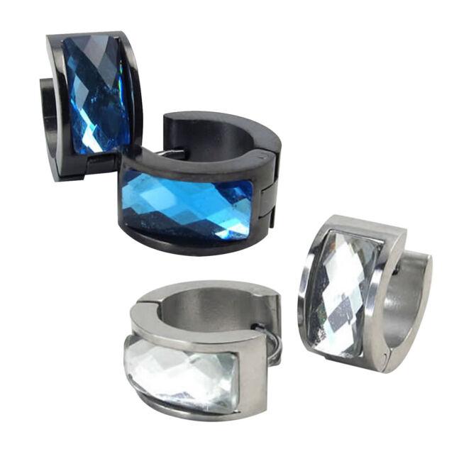 pendientes de joyeria de hombres, pendientes de aro de acero inoxidable E9M2