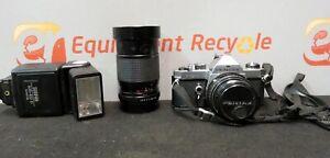 Pentax-MX-Vivitar-35mm-SLR-Film-Camera-Lens-Flash-Case