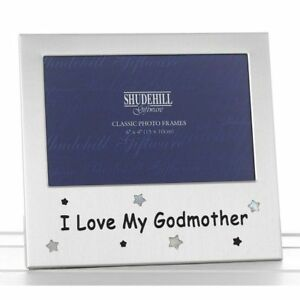 I Love My Godmother Photo Frame Christmas Birthday Christening Thank You Gift