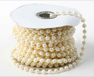 Colorful 4MM Pearl Bead Garland Spool Rope For Wedding Centerpiece Decor