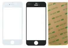 iPhone 5 5G 5C White Front Touch Screen Digitizer Outer Glass Lens with Adhesive