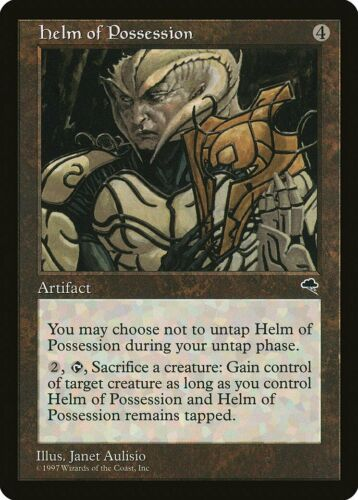 Helm of Possession Tempest NM-M Artifact Rare MAGIC THE GATHERING CARD ABUGames