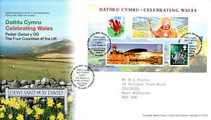 26 FEBRUARY 2009 CELEBRATING WALES MINIATURE SHEET RM FIRST DAY COVER BUREAU SHS - Weston Super Mare, Somerset, United Kingdom - 26 FEBRUARY 2009 CELEBRATING WALES MINIATURE SHEET RM FIRST DAY COVER BUREAU SHS - Weston Super Mare, Somerset, United Kingdom