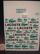 """DECALS 1/43 - 1/32 - 1/24 - 1/18 LOGOS """" LACOSTE """" - T313"""