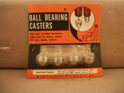 Vintage Ball Bearing Casters for Wooden Furniture Legs Made For Chadwick Miller