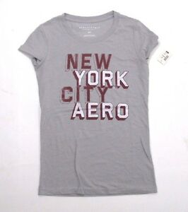 0a4fac80e Aeropostale-Womens-Girls-T-Shirt-Grey-Casual-Graphic-tshirt-XS-S-M-L ...