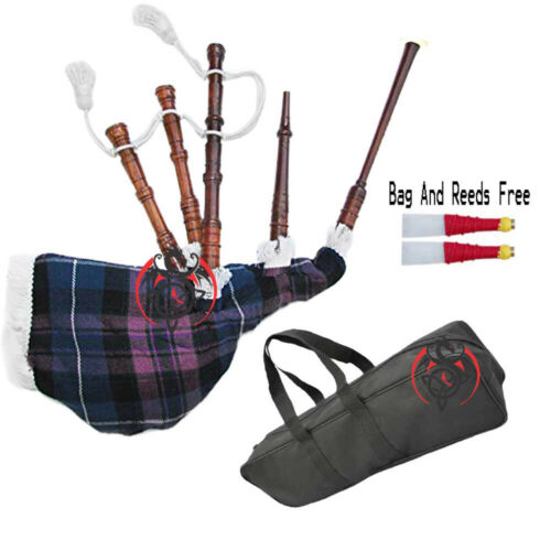 Baby Toy Mini Bagpipe with Pride of Scotland Cover /& Cord Free Bag and Reed Gift