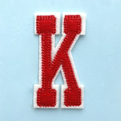 Alphabet Letters College Style Embroidered Motif Fabric Iron On Patch Badge