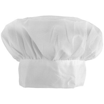 CHEF BAKER COOK PARTY COSTUME HAT WHITE CAP - ADULT SIZE