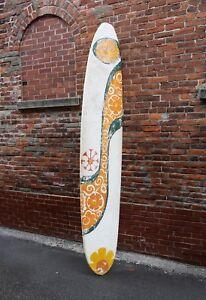 Hansen-Surfboard-9-7-Original-1960s-Vintage-paper-mache-display-sign-Hipster