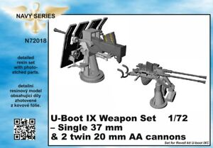 CMK-1-72-Type-IXC-Weapons-Set-Single-37mm-amp-20mm-AA-Cannons-N7218