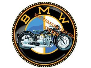 VINTAGE-BMW-MOTOR-CYCLE-STICKER-LARGE-240mm-DIA