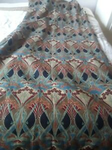Large-Vintage-Pair-Liberty-of-London-Linen-Union-Ianthe-Pattern-Lined-Curtains