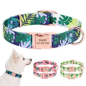 Fashion-Personalised-Dog-Collars-Pet-Name-ID-Collar-Laser-Engraved-Metal-Buckle