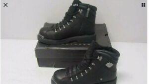 Harley-Davidson-Men-039-s-Black-Electron-Boot-8-5-185