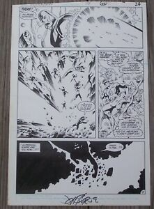 SUPERMAN ISSUE 14 PAGE 18 ORIGINAL ART BY JOHN BYRNE AND KARL KESEL
