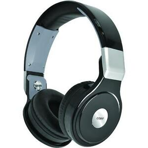 coby chbt 700 blk pivot wireless bluetooth over the ear headphones ebay. Black Bedroom Furniture Sets. Home Design Ideas