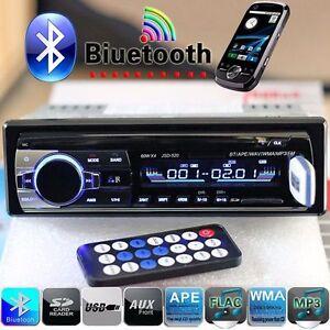 Voiture Autoradio Stéréo In-Dash Bluetooth 1Din MP3 Lecteur FM AM USB SD AUX 12V
